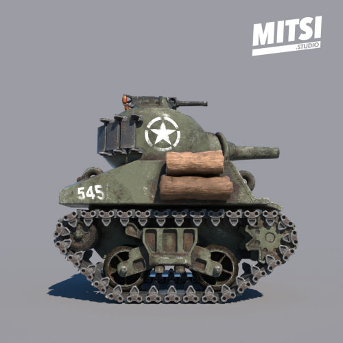 3d Mitsi Studio Tank