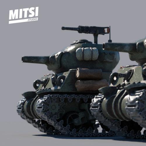 3d Mitsi Studio war tankers