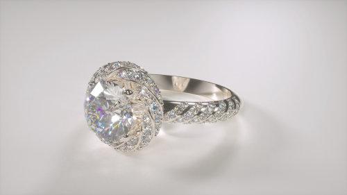 Computer Generated Antwerp Diamond Ring Jewerllery