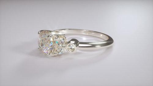 计算机生成的安特卫普钻石戒指珠宝