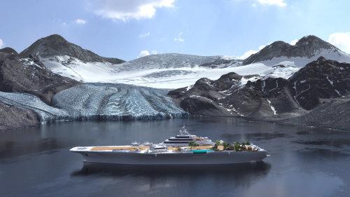 3d design of cruise ship
