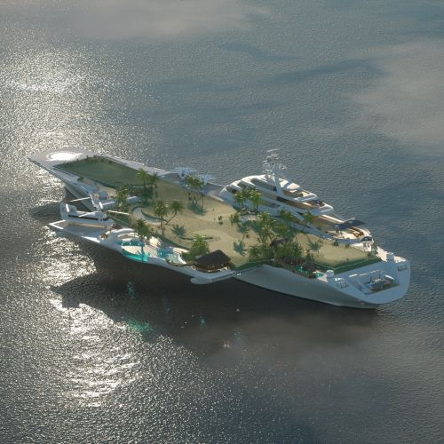 3d Cruise ship city