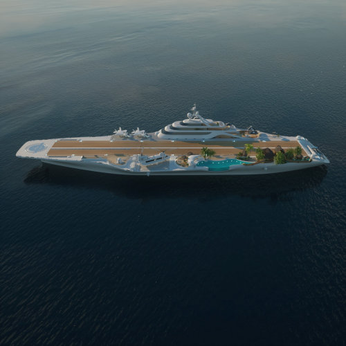 3d cruise ship runway