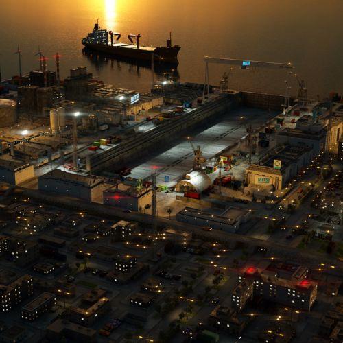 3d city ship