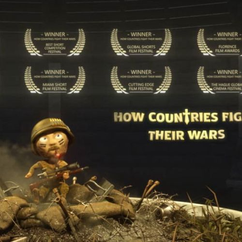 motion graphics animation film about how countries fight their wars