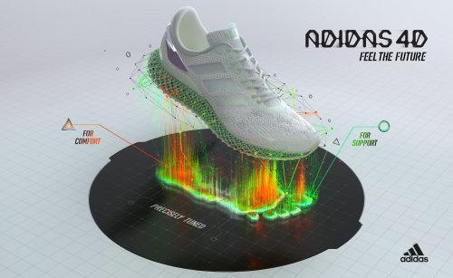 3d渲染的阿迪达斯鞋