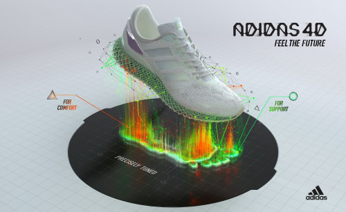 3d rendered Addidas Shoe
