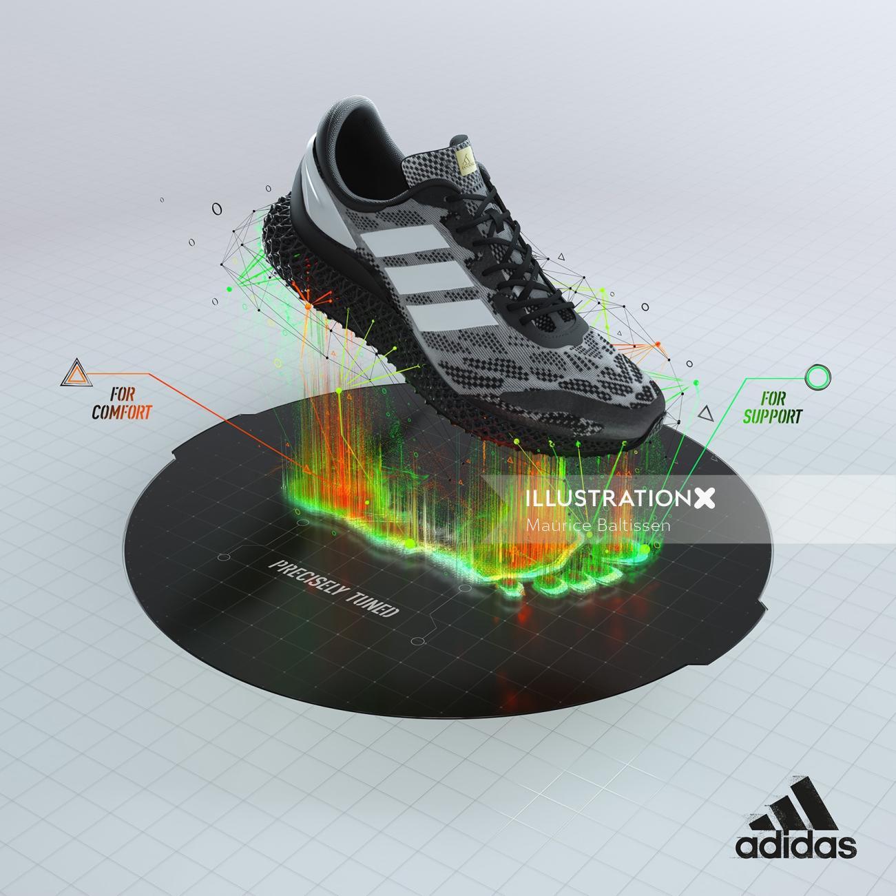 3d CGI Rending shoe model