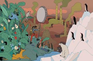 Editorial illustration forTalouselämä magazine by Maxim Usik