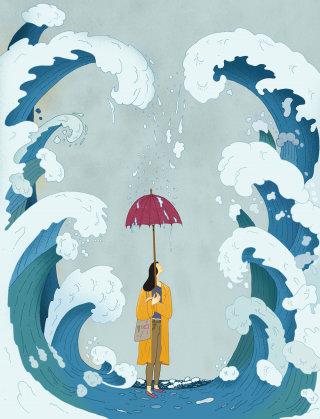 Conceptual art of mental Resistanc for Vihrea Lanka magazine