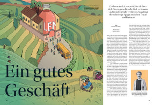 Editorial illustration for Capital magazine by Maxim Usik