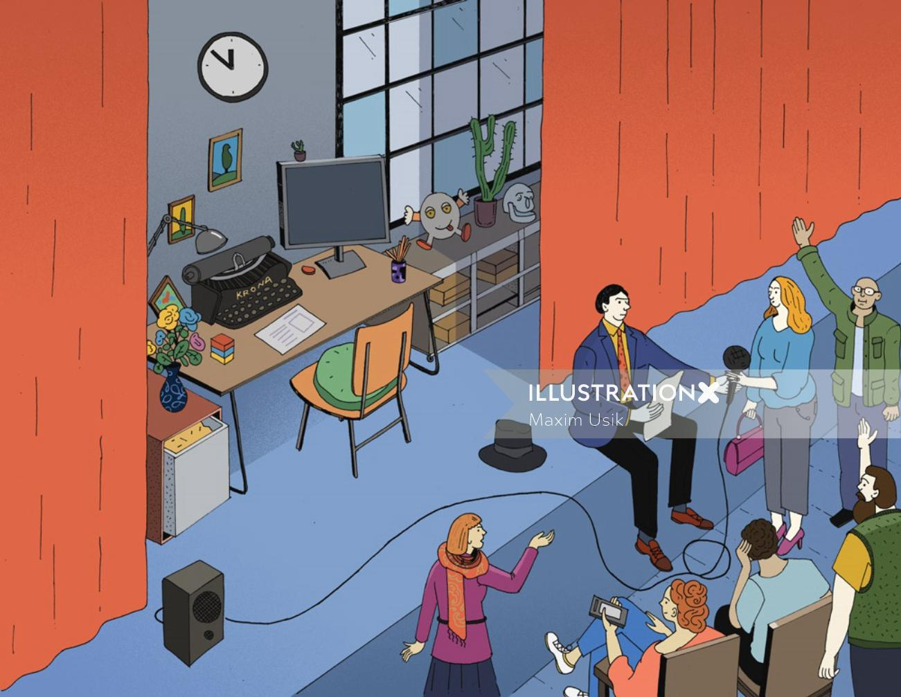Editorial illustration for Journalist magazine by Maxim Usik