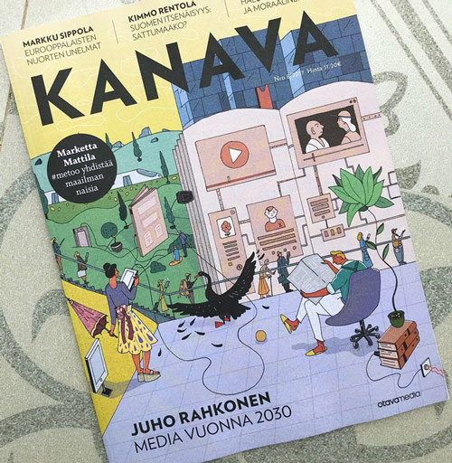 Kanava magazine cover illustration by Maxim Usik