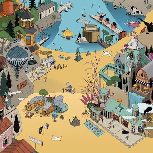 Hanko-city poster illustration by Maxim Usik