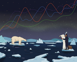 Art showing How to write articles about climate change