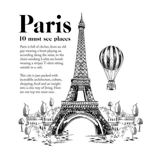 Hand draw Eiffel Tower Paris