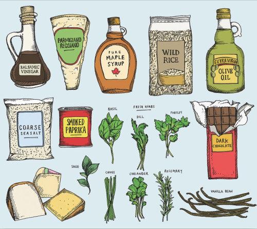 Ilustração de alimentos plantados por MayVan Millingen