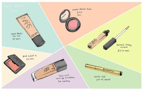 Ilustração de produtos de beleza