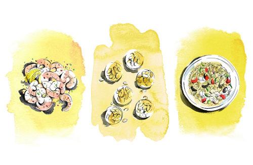 Ilustração de comida por MayVan Millingen