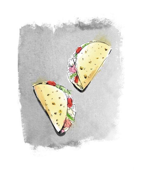 Projeto de tacos de comida mexicana deliciosa