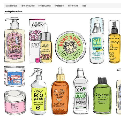 Oil bottle illustration