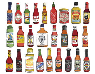 Hot Sauces artwork by May Van Millingen