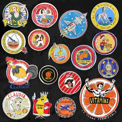Food & Drinks Orange stickers