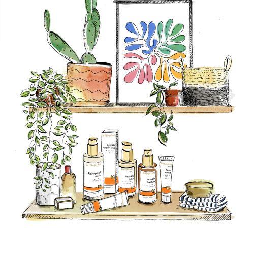 Lifestyle bathroom shelf
