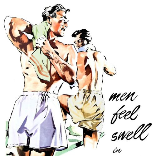 Men boxer shorts illustration by May van Millingen
