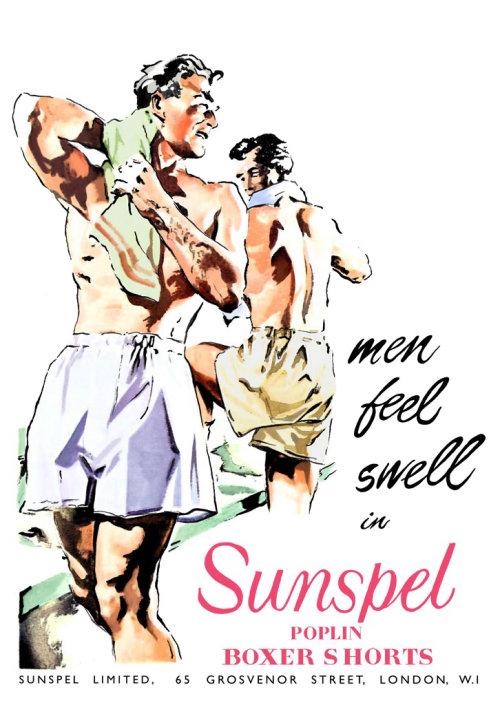 Ilustração de bermuda masculina por May van Millingen