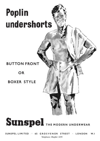 Poplin undershorts - illustration by May van Millingen