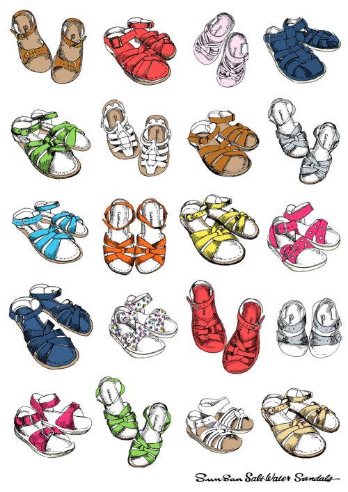 Foot wear illustration by May van Millingen