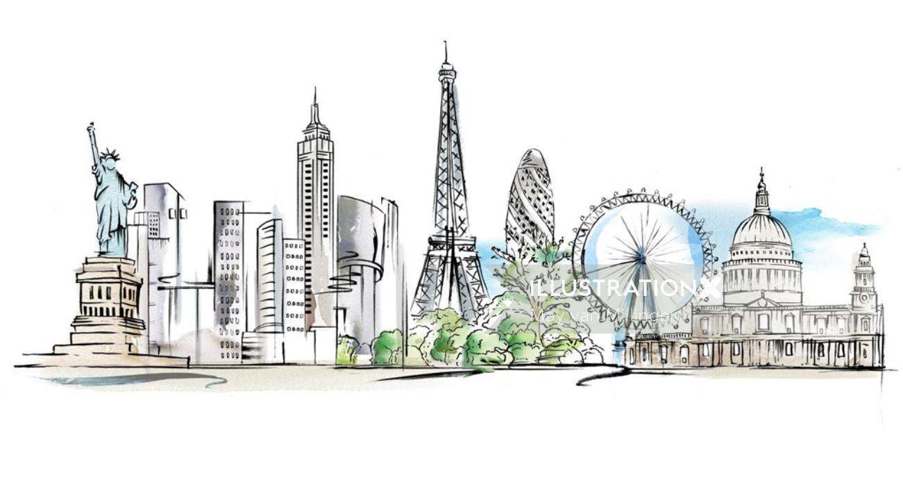New York city illustration by May van Millingen