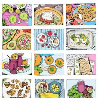Hemsley food illustration