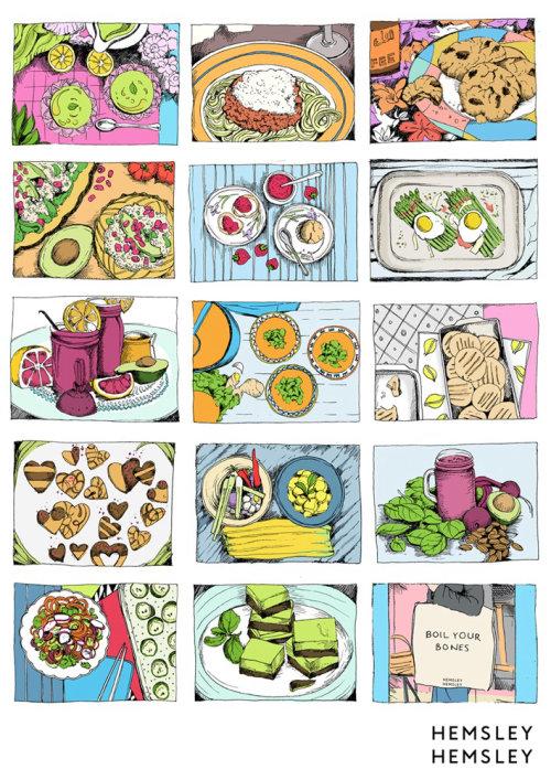Ilustração de comida Hemsley