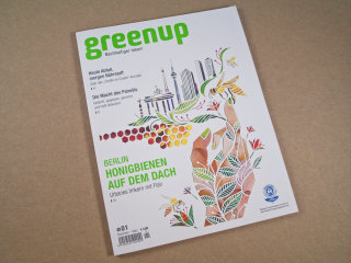 Greenup Magazine Cover Illustration