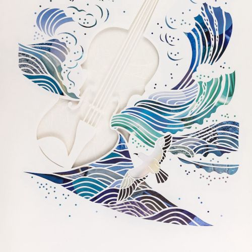 Decorative art of violin