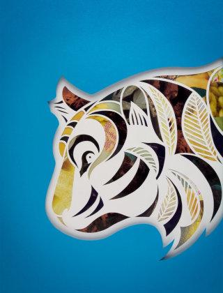 Tiger illustration by Mayuko Fujino