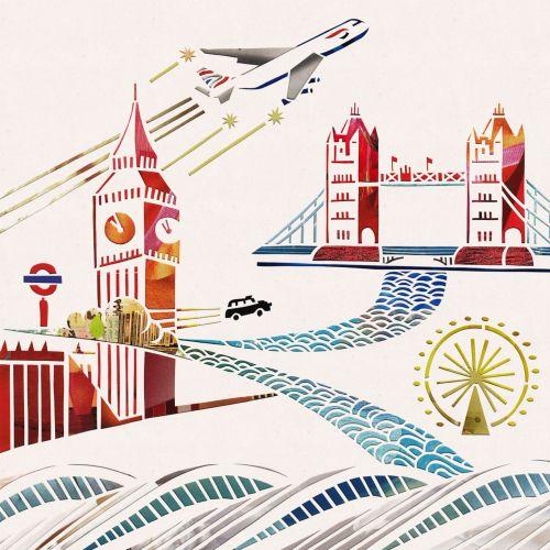 London bridge illustration by Mayuko Fujino