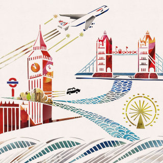 London bridge illustration by Mayuko Fujino
