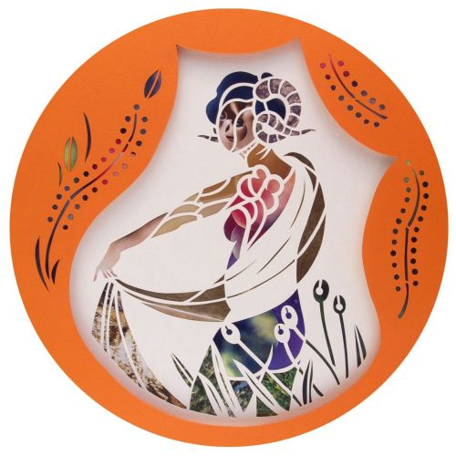 Paper Cut Horoscope design for Brigitte Magazine