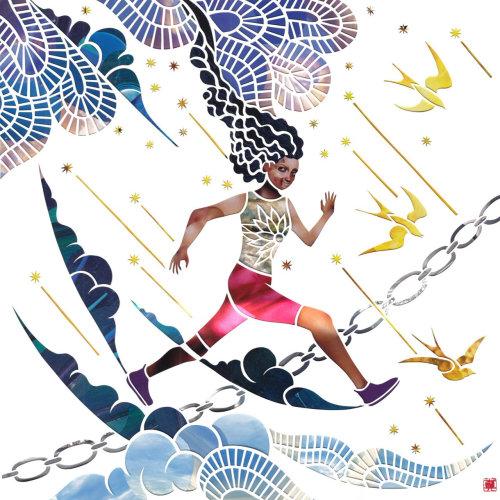 Girl illustration by Mayuko Fujino