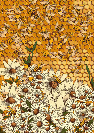 Conceptual art for farming without bees