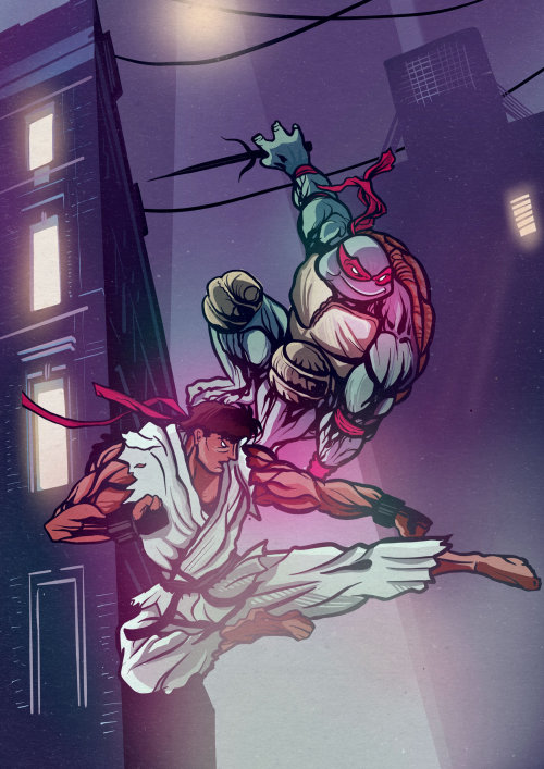 Turtles fighting poster from teenage mutant ninja turtles movie