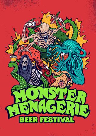 Cover poster for monster menagerie  beer festival