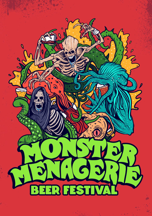 Cover poster for monster menagerie  beer festival