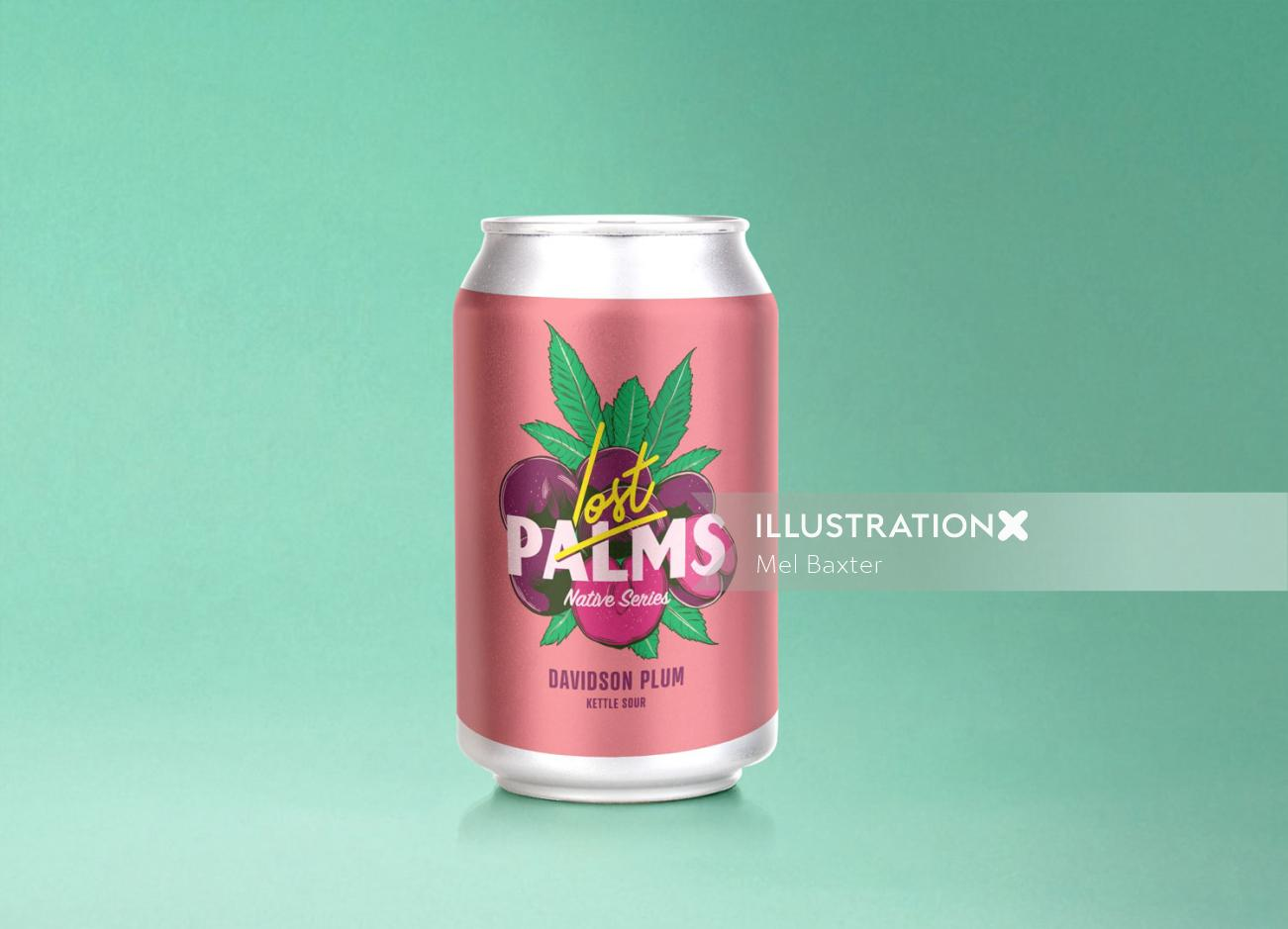 Lost palms davidson plum series package artworks