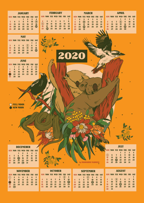 Arte retro de diseño de pájaros en calendario