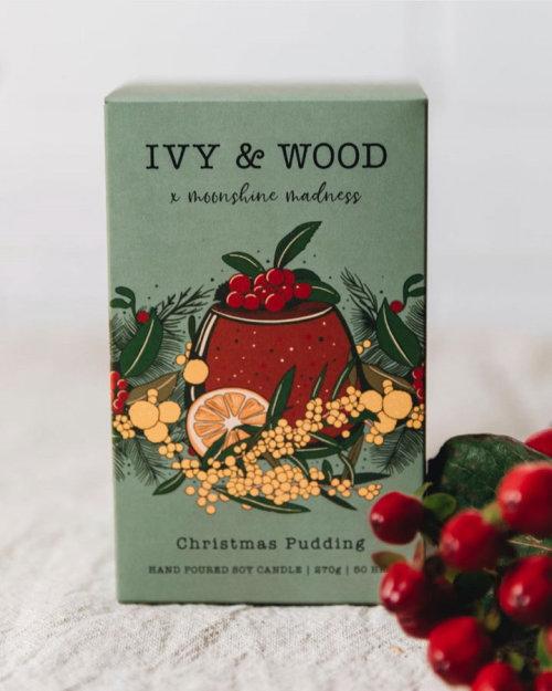 Ivy & Wood christmas pudding product design