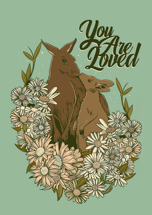 Kangaroo You are loved illustration